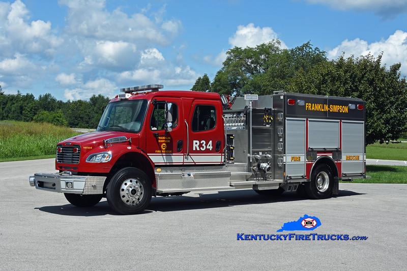 Franklin-Simpson Rescue 34<br /> 2019 Freightliner M2-106/Toyne 1250/1000/30<br /> Kent Parrish photo