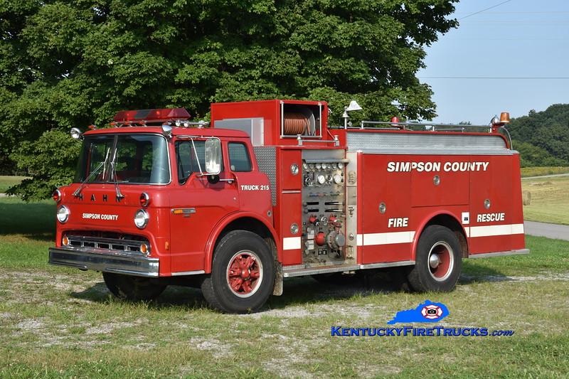 Franklin-Simpson Engine 15<br /> x-Limerick, PA, Walton, KY, and Simpson County<br /> 1981 Ford C-8000/Hahn 1000/1000<br /> Greg Stapleton photo