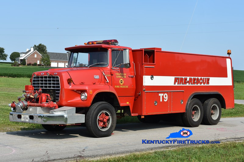 Franklin-Simpson Tanker 9<br /> x-Simpson County <br /> 1978 Ford LS/Saulsbury 750/2600<br /> Greg Stapleton photo
