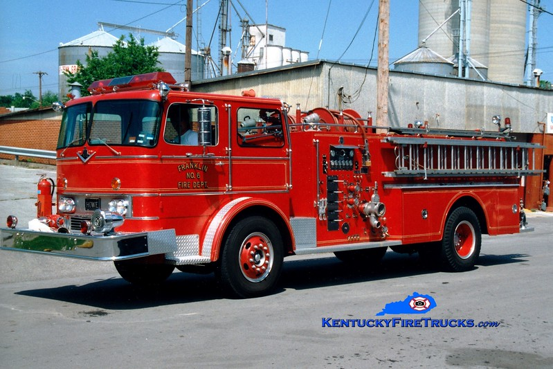 <center> *RETIRED <br> Franklin  Engine 6  <br> 1970 International CO-1890/Howe 1000/500 <br> Greg Stapleton photo </center>