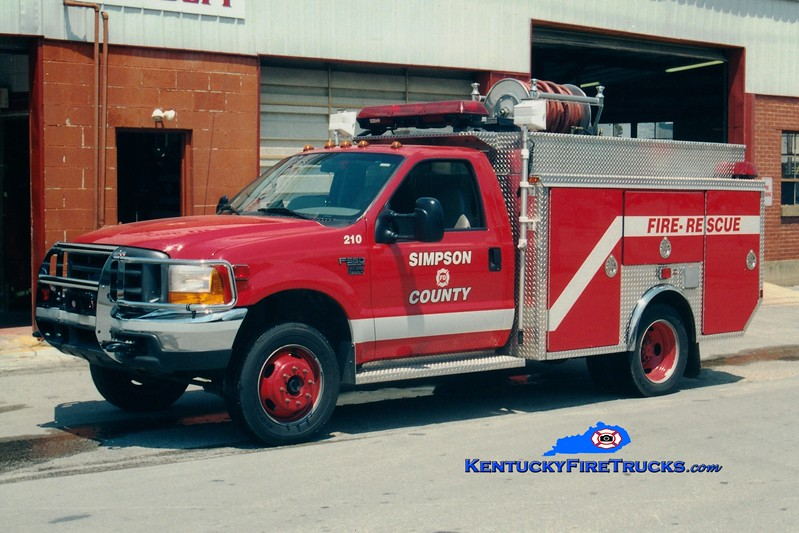 <center> *Now with the Franklin-Simpson FD <br> Simpson  County Brush 210  <br> 1998 Ford F-550 4x4/EVI 250/450 <br> Greg Stapleton photo </center>