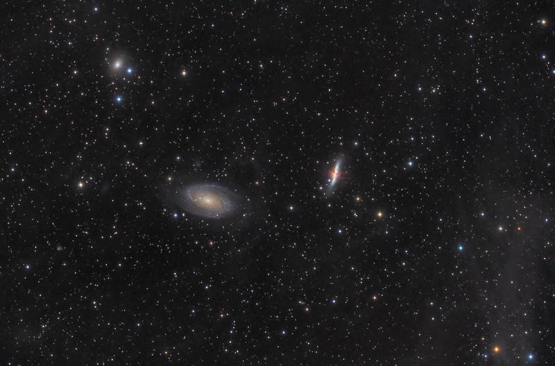 Cigar Galaxy (M82) and Bode's Galaxy (M81) in Ursa Major