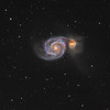 The Whirlpool Galaxy (Messier 51) in Canes Venatici - HaLRGB