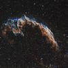 Eastern Veil Nebula in the constellation of Cygnus - Hubble Palette