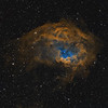Sharpless 2-261 from New Mexico and Extremadura (Hubble Palette)