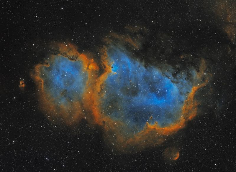 Soul Nebula in Cassiopeia - 42 hour Mosaic in SHO