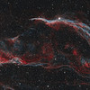 Witch's Broom and Pickering's Triangle in Cygnus - Two Panel Bicolour Mosaic
