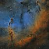 The Elephant's Trunk Nebula in Cepheus - SHO (Hubble Palette)