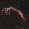Eastern Veil Nebula in the constellation of Cygnus - Bicolour
