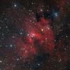 Cave Nebula (Sharpless 2-155) in Cepheus - Ha LRGB