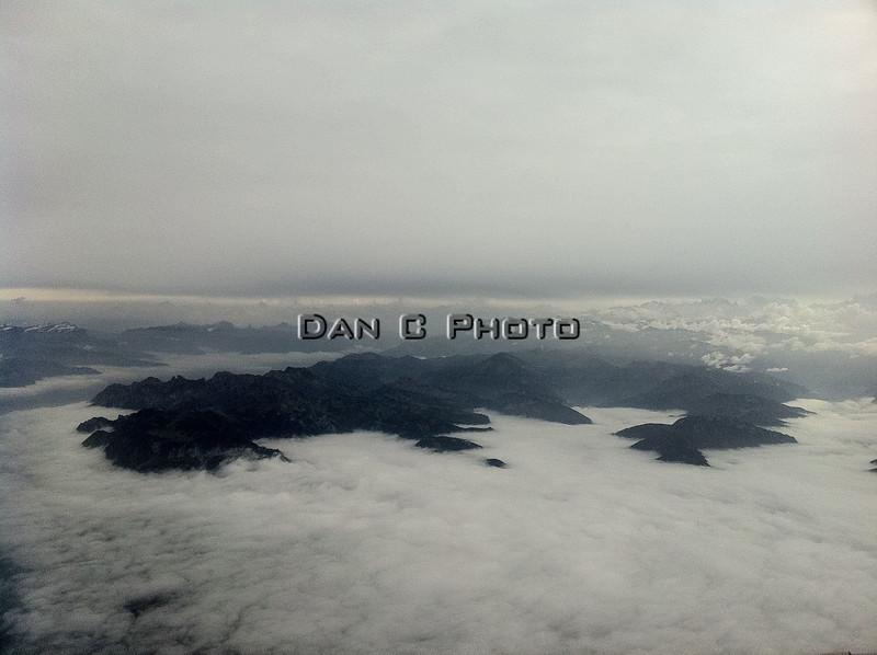 Shot of the Alps over Switzerland