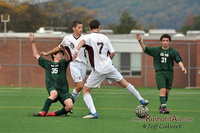 JV Soccer - State College Area High School v. Central Dauphin High School, in State College, PA on 18 Nov 2011.