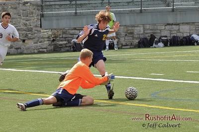 JV Soccer - State College Area High School v. Mt. Lebanon High School, in State College, PA on 17 Sep 2011.