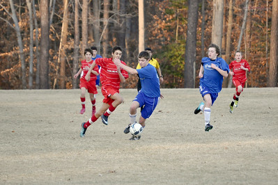 STN Rangers (U14) v. PWSI Courage 96 Red in President's Day Cup in Williamsburg, VA on Feburary 19-20, 2011.