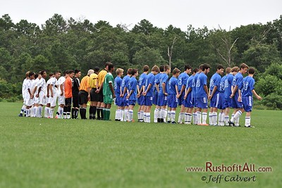 STN Rangers (U15) - pregame at US Club Soccer National Cup XI Mid-Atlantic Regional Tournament in Hammonton, NJ on 7 & 8 July 2012.