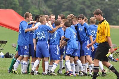 STN Rangers (U15) - pregame at US Club Soccer National Cup XI Mid-Atlantic Regional Tournament in Hammonton, NJ on 7 & 8 July 2012.