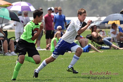 STN Rangers (U15) v. Vineland SA Stuffed Animals at US Club Soccer National Cup XI Mid-Atlantic Regional Tournament in Hammonton, NJ on 7 July 2012.