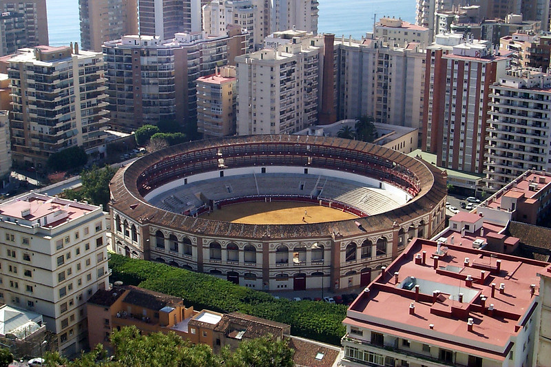 Bullfight arena, Malaga, Spain