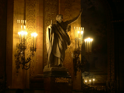 Statue of San Tadeo (inside la Catedral de San Francisco El Grande)