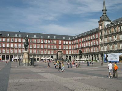 17th Century Plaza Mayor - once the site of coronations, executions, bullfights, and trials during the Spanish Inquisition