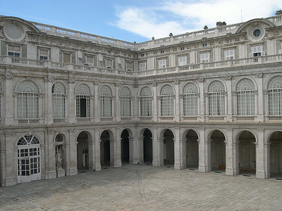 Courtyard inside Palacio Real