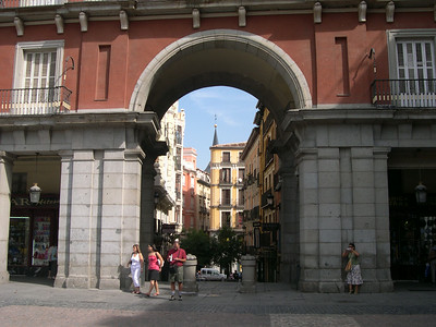Archway leading into Plaza Mayor