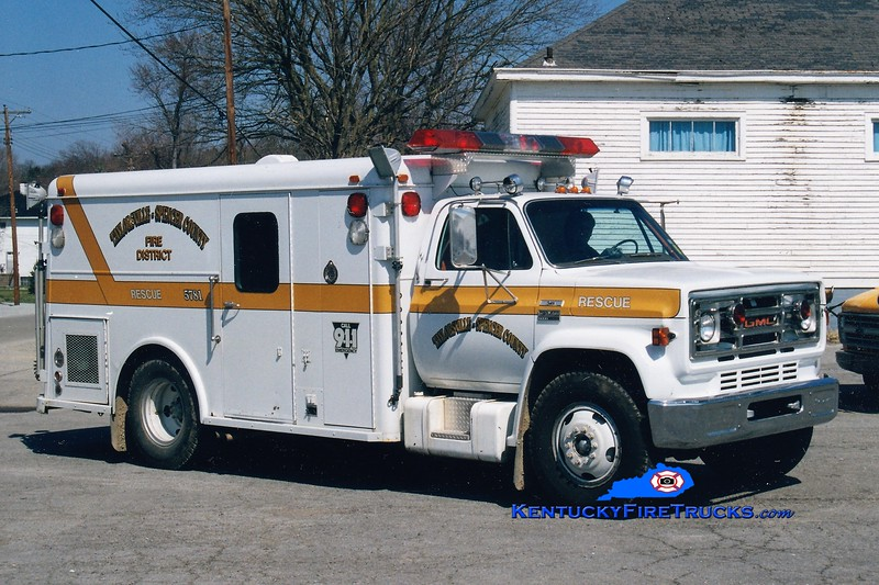 RETIRED <br /> Taylorsville-Spencer County Rescue 5781<br /> 1981 GMC/Gerstenslager <br /> Greg Stapleton photo
