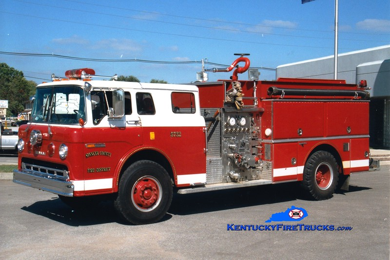 <center> RETIRED <br> Spencer County Engine 5732  <br> 1983 Ford C-8000/Grumman 1000/1000 <br> Greg Stapleton photo </center>