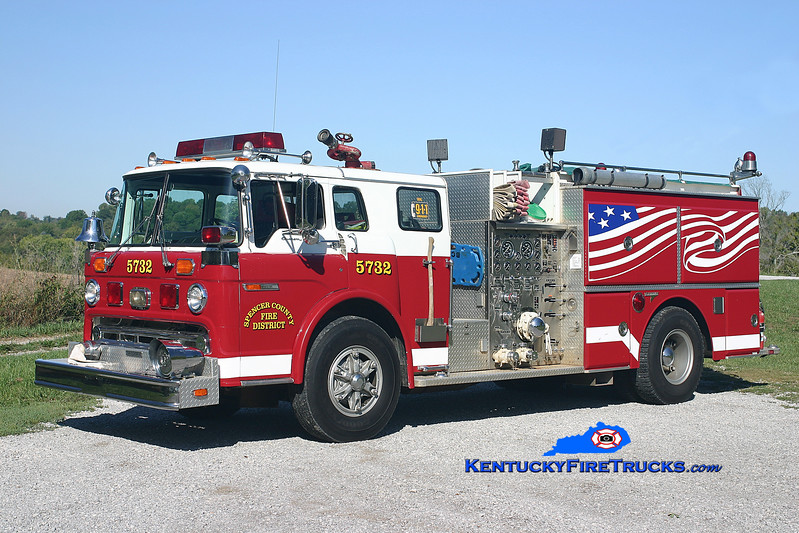 RETIRED <br /> Spencer County  Engine 5732<br /> x-Clemmons, NC<br /> 1986 Ford C-8000/Grumman 1250/1000<br /> Kent Parrish photo