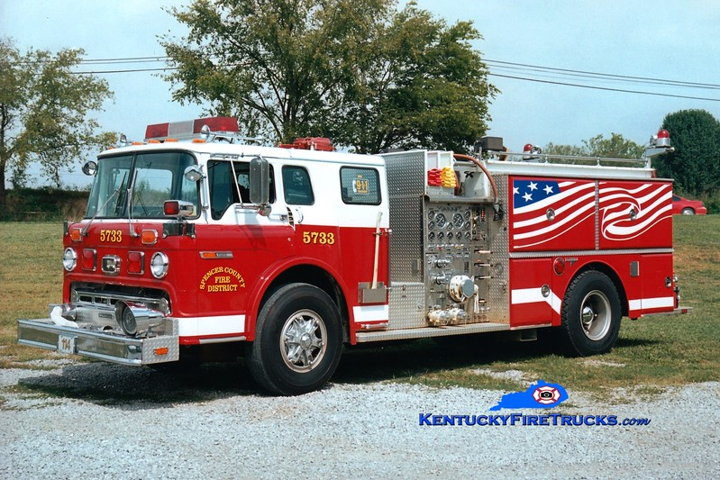 RETIRED <br /> Spencer County  Engine 5733<br /> x-Clemmons, NC<br /> 1987 Ford C-8000/Grumman 1250/1000<br /> Greg Stapleton photo