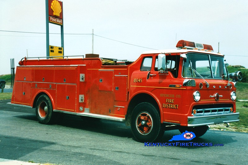 <center> RETIRED <br> Spencer County Tanker 5761  <br> x-Okolona, KY 1000/500/Quad <br> 1969 Ford C-850/American 0/1400  <br> Greg Stapleton photo </center>