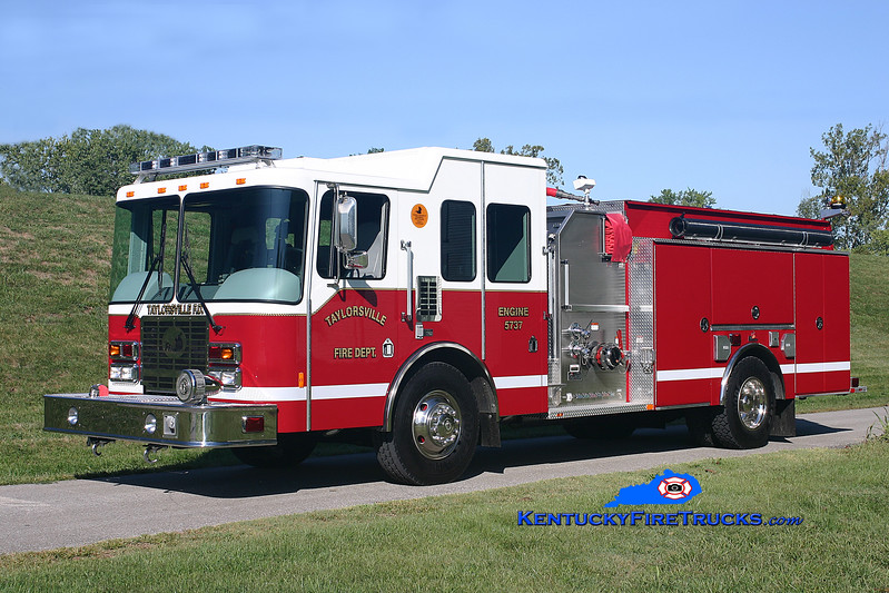<center> Taylorsville-Spencer County Engine 5737  <br> 2007 HME/Ferrara Intruder 2 1250/1000/30 <br> Kent Parrish photo </center>