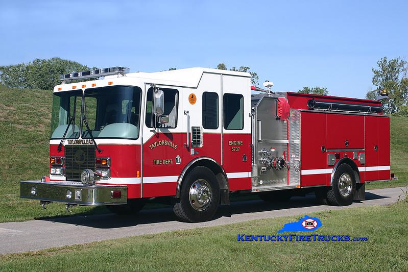 <center> Taylorsville Engine 5737  <br> 2007 HME/Ferrara Intruder 2 1250/1000/30 <br> Kent Parrish photo </center>