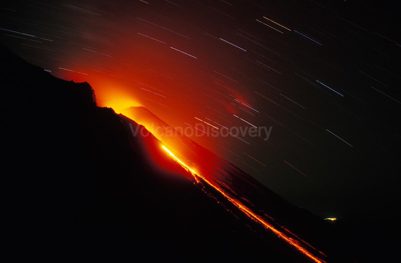 Lava flow on Sciara del Fuoco