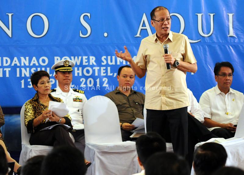 Aquino attends Mindanao Power Crisis
