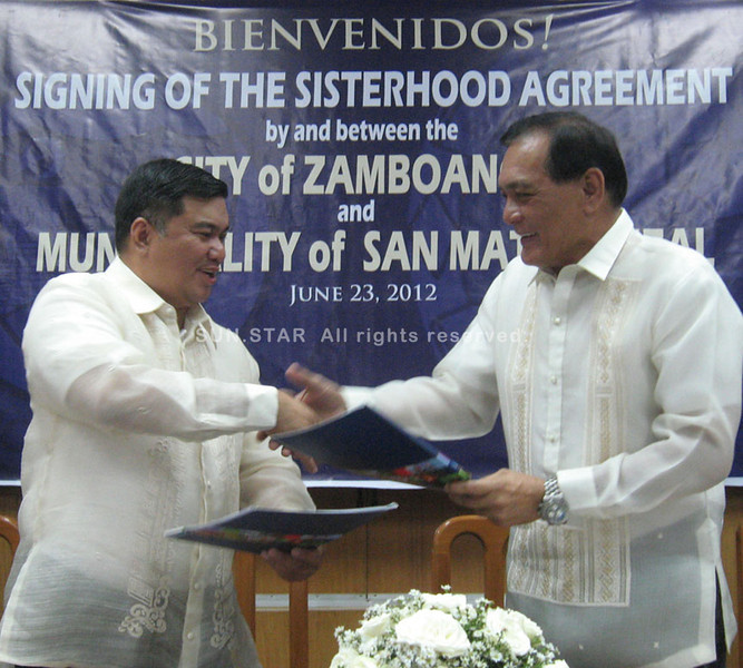 Zamboanga City, San Mateo ink sisterhood pact