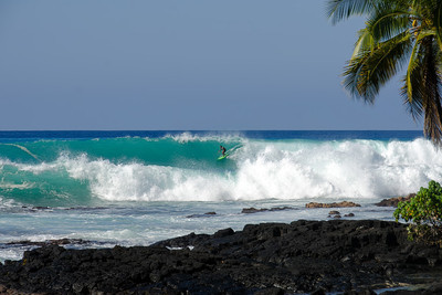 Banyans during NW swell of December 20, 2013. Kailua-Kona, Big Island Hawaii.