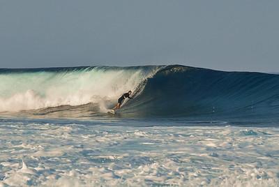 Andy MacIsaac surfing Kaloko. Big Island Hawaii, February 2012.
