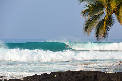 WNW swell of January 22, 2015. Unidentified at Banyans. Kailua-Kona, Hawaii.