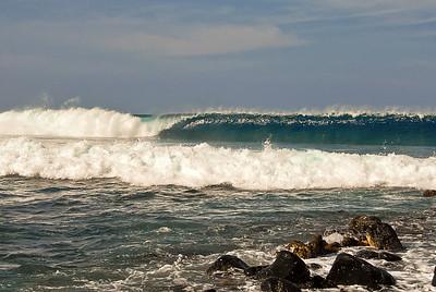 Big set at Kaloko. Big Island Hawaii, February 2012.