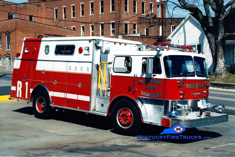 <center> RETIRED <br> Campbellsville-Taylor County Rescue 1 <br> x-Newark, DE <br> 1976 Seagrave PC/Hamerly <br> Greg Stapleton photo </center>