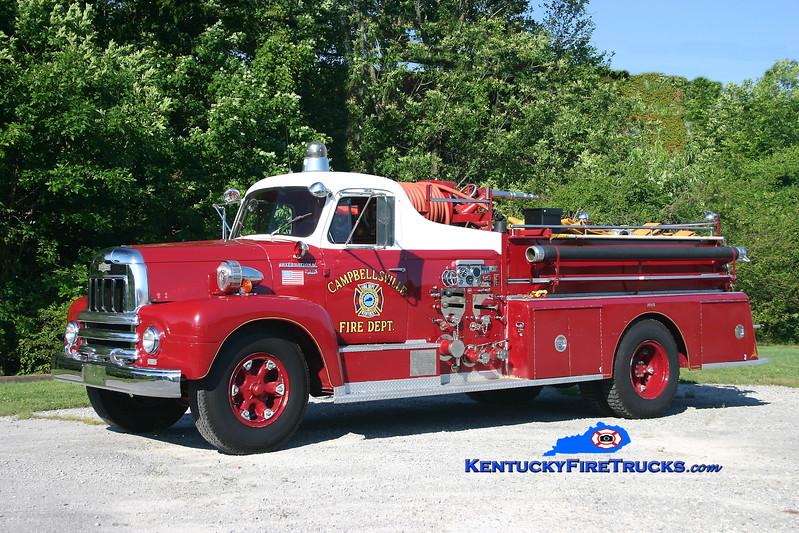 <center> RETIRED <br> Campbellsville  Engine 52 <br> 1960 International R185/Pirsch 750/300 <br> Kent Parrish photo </center>