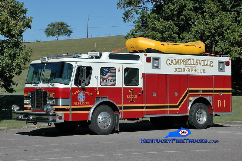 RETIRED <br /> Campbellsville  Rescue 1 <br /> x-Worthington, KY; x-Campbellsville-Taylor County Rescue Squad, KY <br /> 1992 E-One Protector TC <br /> Greg Stapleton photo
