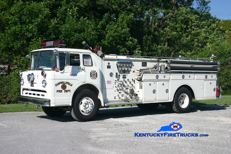 <center> RETIRED <br> Campbellsville  Engine 51 <br> 1966 Ford C-650/Oren 1000/500/Quad <br> Kent Parrish photo </center>