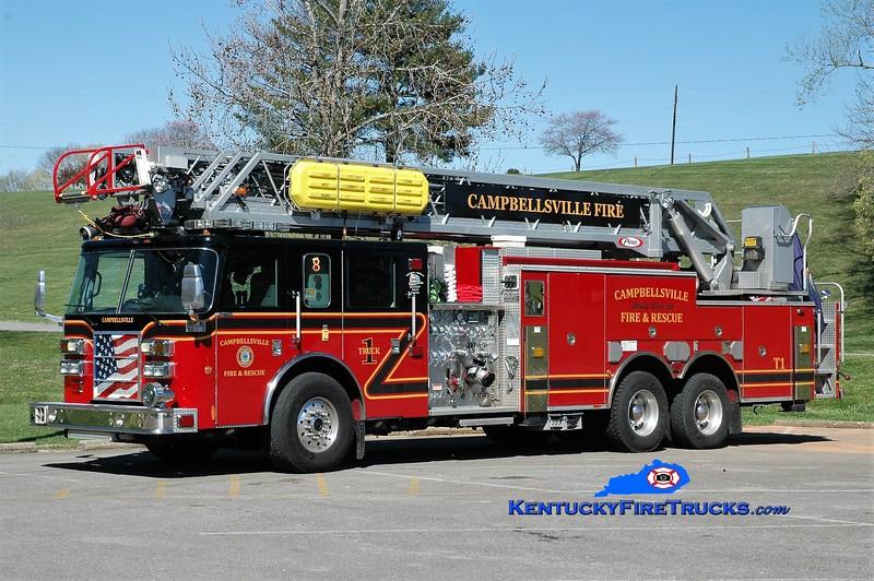 Campbellsville  Truck 1<br /> x-Johnson County FPD #2, KS <br /> 2006 Pierce Dash 1500/300/105' <br /> Greg Stapleton photo