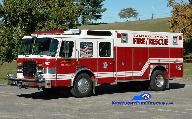<center> RETIRED <br> Campbellsville  Rescue 1 <br> x-Worthington &amp; Campbellsville-Taylor County Rescue Squad, KY <br>  Greg Stapleton photo </center>