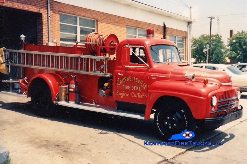 RETIRED<br /> Campbellsville  Engine 53<br /> 1954 International/Boyer 500/300<br /> Greg Stapleton photo