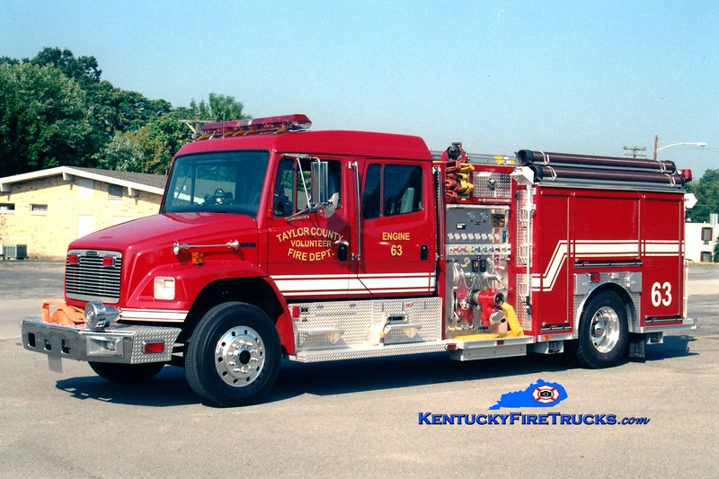 <center> Taylor County Engine 63  <br> 2001 Freightliner FL80/American LaFrance 1250/1000 <br> Greg Stapleton photo </center>