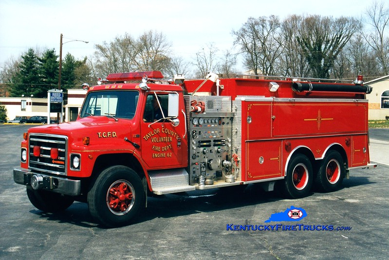 <center> Taylor County Engine 62  <br> 1987 International S-1900/KME 1250/2000 <br> Greg Stapleton photo </center>