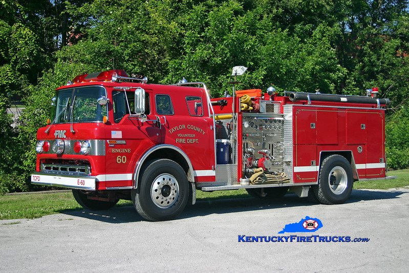 <center> RETIRED <br> Taylor County Engine 60  <br> 1983 Ford C-8000/FMC 1000/750 <br> Kent Parrish photo </center>